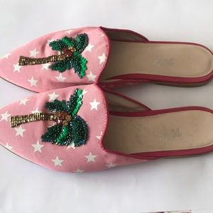 Anthropologie VV14 Mules new palm tree 🌴